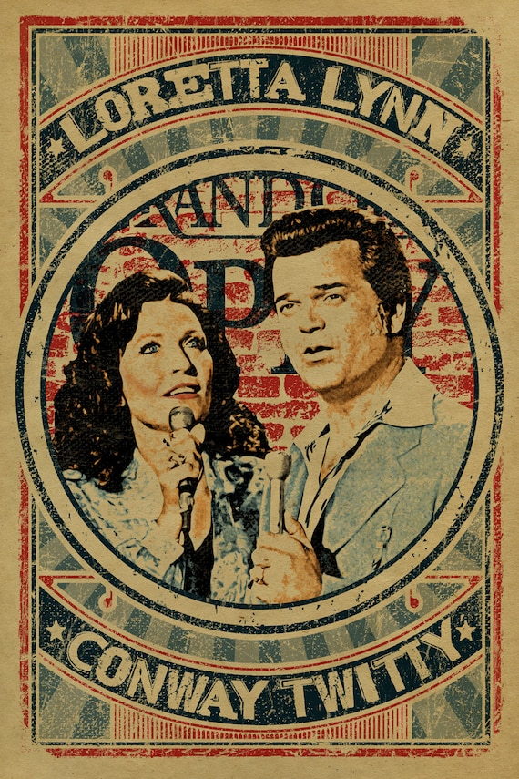 Loretta Lynn And Conway Twitty Poster 12x18 Coal Miners