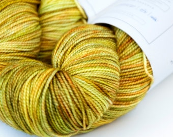 Ripening Fields -- Curious Sock (100% superwash merino, fingering weight)