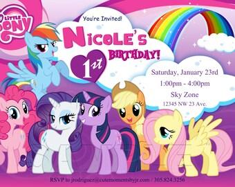 My Little Pony Birthday Digital Invitation - My Little Pony Baby Shower - Pony Invitation - My Little Pony Invitation