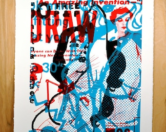 An Amazing Invention, silkscreen art print, 22 x 30 inches