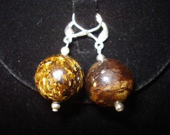Bronzite Gumball Earrings