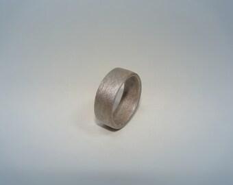 Silver Bentwood Ring - Silver Wood Ring - Silver Dyed Birch Bentwood Ring - Birch Wood Ring - Dyed Bentwood Ring - Dyed Wood Ring
