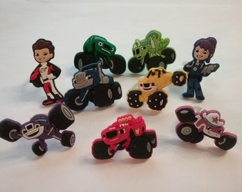 Special! Blaze and the Monster Machines Rings Party Favor Cupcake Toppers Style 2