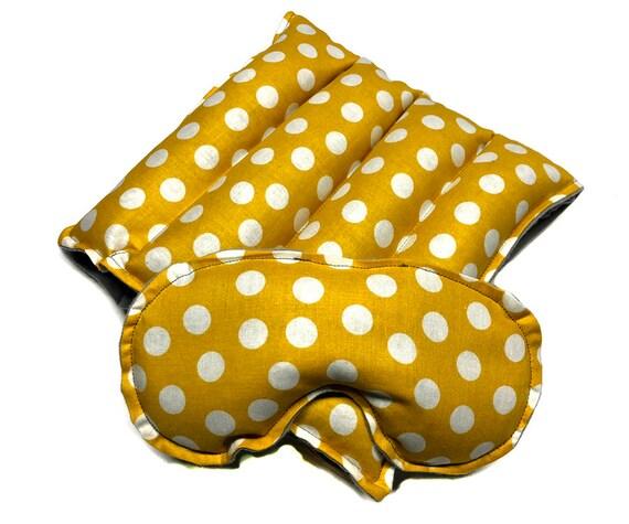 LARGE Rice Heat Pad with eye pillowask SET, Flax seed, heating pack, eye pillow, eye mask, rice bag, flax seed,aromatherapy
