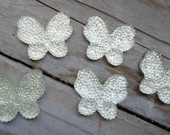 Set of butterflies white craft 3 cm * 2.5 cm