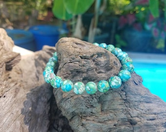 Turquoise agate stone beads