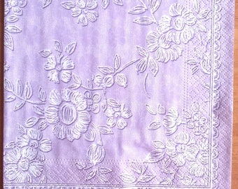 Pack of 20 purple paper napkins