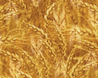 100% Cotton fabric by Half Yard increment -  Reclaimed West gold wheat by Judy Niemeyer for Timeless Treasures (c2907-52)
