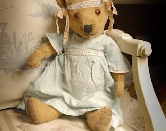 "SOLD JESSE - Antique  Teddy bear  - English Chiltern bear"" c 1920/30's - April - 112"
