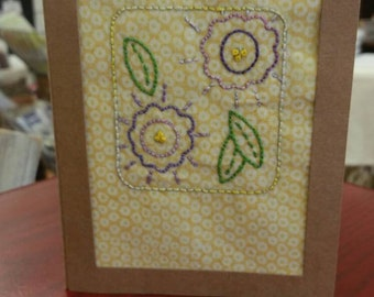 Hand embroidered card