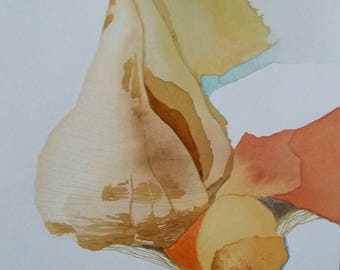 """Padre Island Series """" Texas Lightning Welch"""" original one of a kind watercolor"""