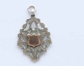 Antique Edwardian Sterling Silver 9 carat Scholastic Medal. Hallmarked Birmingham,England 1906.