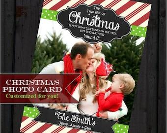 Photo Christmas Card, Printable Christmas Card, Greeting Card, Digital Card, Holiday Greeting Card, Family Greeting Card