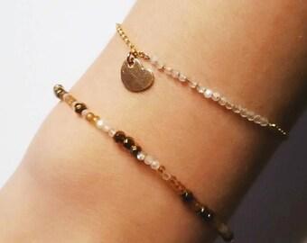Bracelet Moonstone and 14 k gold
