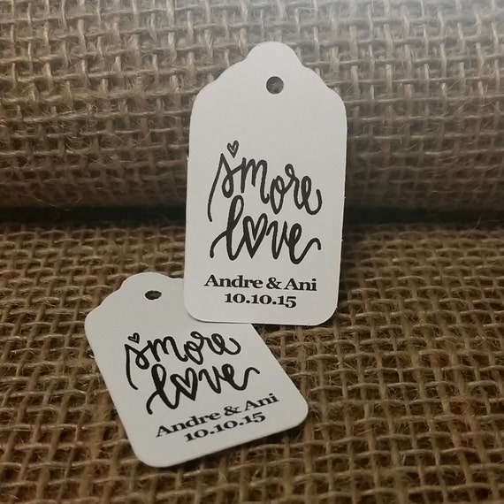 """Smore Love Favor Tag Choose your quantity SMALL 2"""" Tag type the names you would like on your tag in the notes to seller area at checkout"""