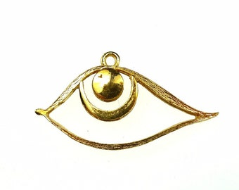 Eye pendants brass 2pcs