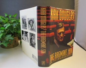 Kirk Douglas Autobiography The Ragman's Son  First Edition Hard Cover w/ Dust Jacket 19 Famous Movie Star Celebrity Book