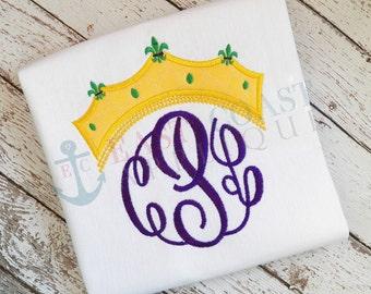 MARDI GRAS CROWN machine embroidery design