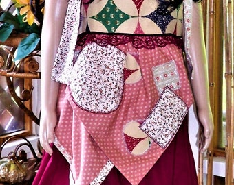 Tie knot V apron