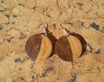 Earrings in acacia African boaca7