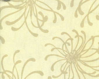 Elements Tan Floral fabric by Faye Burgos for Marcus Fabrics - 1 Yard