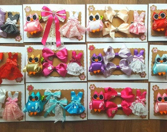 Handmade hair clip gift set