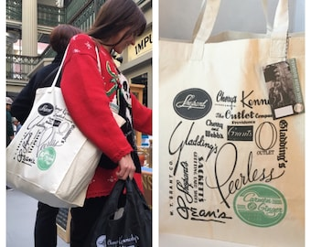 Providence Retail History Canvas Shoulder Tote - Carmen & Ginger Exclusive!