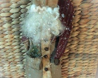 Primitive Christmas handmade santa