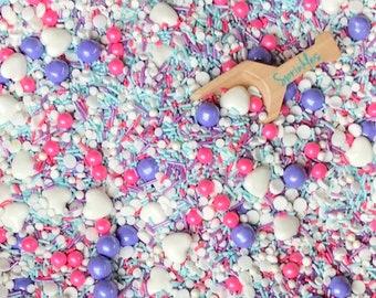 Sprinkle Mix, Sprinkle Medley, Edible Sprinkles, Custom Sprinkles, Girl Birthday Party, Pink Sprinkles, purple sprinkles 2.5oz