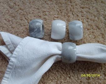 Napkin Rings, Alabaster Napkin Rings, Napkin Holders, Stone Napkin Holders (set of 4)
