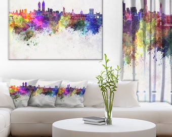 Mumbai Skyline in Cityscape Canvas Art Print and Landscape Metal Wall Art  (PT6589)