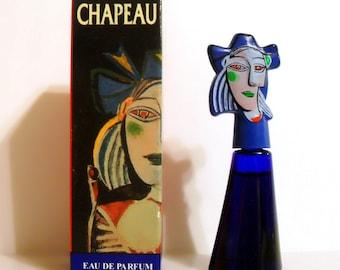 Vintage 1990s Chapeau Bleu by Marina Picasso 0.17 oz Eau de Toilette Mini Miniature PERFUME