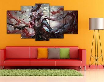 Bloodborne print, Lady Maria, Bloodborne, Hunter, Action RPG, Bloodborne canvas, Bloodborne wall art, Lady Maria canvas, Lady Maria print