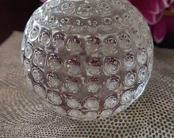 Glass Golf-ball Paperweight