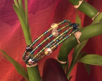 Spring fever seed bead wrap