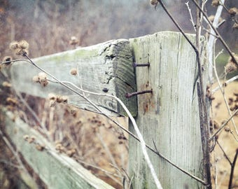 Rustic Farmhouse Decor, Fence Picture, Country Landscape, Rustic Home Decor Rustic Country Art Farm Art Country Home Decor Fixer Upper Decor