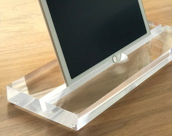 iPad Pro 12.9 Stand, Groove-Diamond Clear, Crystal Clear - Modern Minimalism at its Best