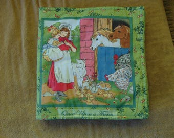 Vintage Cloth Childs Book 1960s Childhood Rag Book Beautiful Shabby Chic Baby Toddler