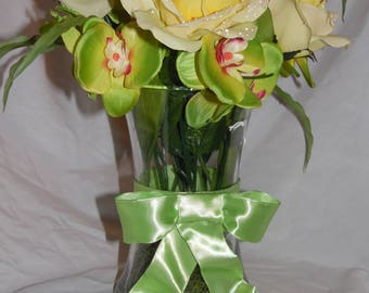 Yellow Spring Flower Vase
