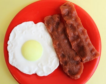 Bacon and Egg Soap Set - Food Soap, Breakfast Soap, Bacon Soap, Egg Soap, Fake Food Soap, Prank Soap, Gag Gift, Silly Soap
