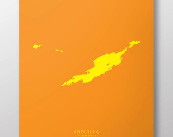 "Anguilla 14"" x 20"" Print"