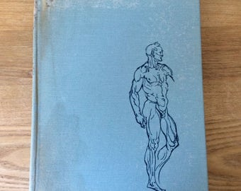Vintage Book Atlas of Anatomy for Artists by Fritz Schider, 2nd Edition, 1954, Dover Publication, Hardcover 161 Pages