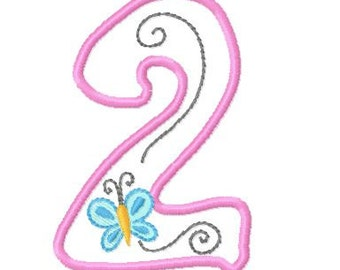 Numbers Applique Machine Embroidery Design Pack, PES Format, 2 Sizes