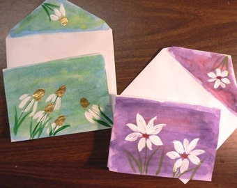 Watercolor PERSONALIZED Notecards - Set of 5
