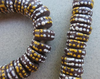 Glass Krobo Beads (11x4mm) [67199]