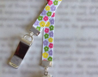 Sheep Bookmark / Lamb Bookmark / Knitters Bookmark / Cute Bookmark  - Clip to cover then mark page with ribbon. Never lose your bookmark!