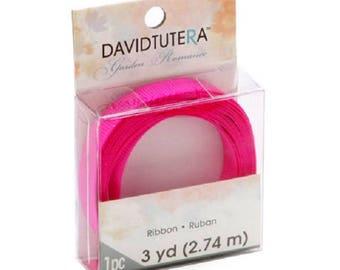 David Tutera Grosgrain Ribbon - Fuchsia - 3/8 inch x 3 yards