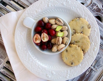 Natural & Organic Gourmet Cranberry Pistachio Butter Cookies (12 Count)