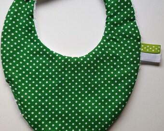 "Green ""confetti"" lemon 0-6 months baby bandana bib"
