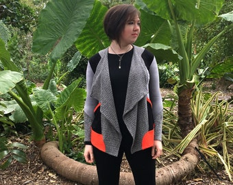 Modern Lightweight Jacket / Sophisticated Bamboo Hemp Organic Cotton Jacket / Shawl Collar & Pockets /Eco Sustainable Jacket / Eislen Gray